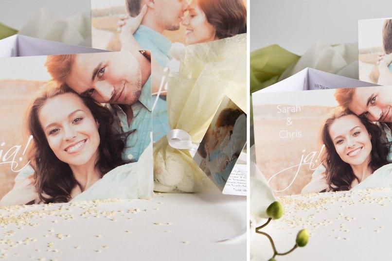 Clarity, Hochzeitseinladung, klar, strukturiert, Bild, Paar