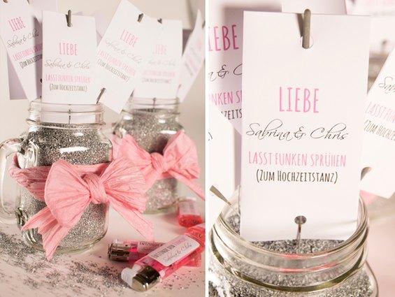Anleitung für selbstgebastelte Hochzeitswunderkerzen