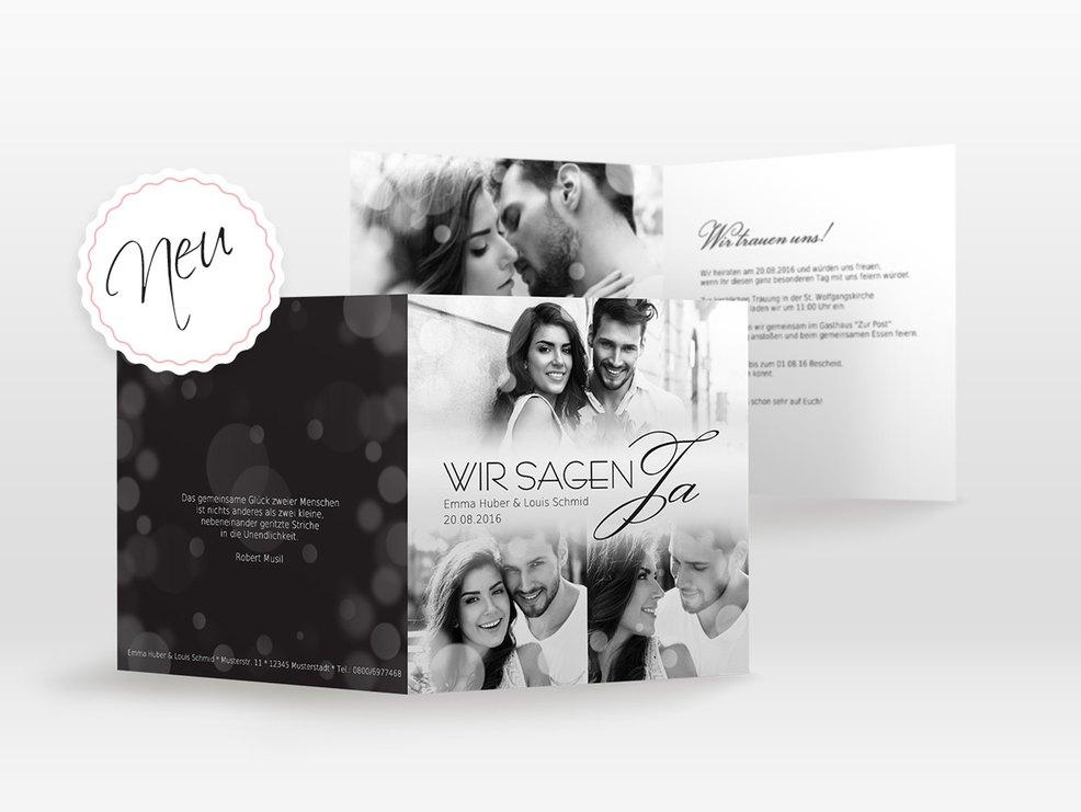 Schwarz Weiss Edle Hochzeitskarten Mit Stil Myprintcard
