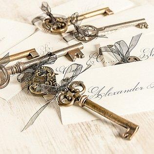 Schlüssel-Tischdeko auf der Hochzeit