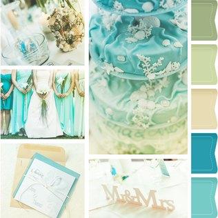 Eine Hochzeit wie am Strand - Die Hochzeitsfarbe Türkis überzeugt