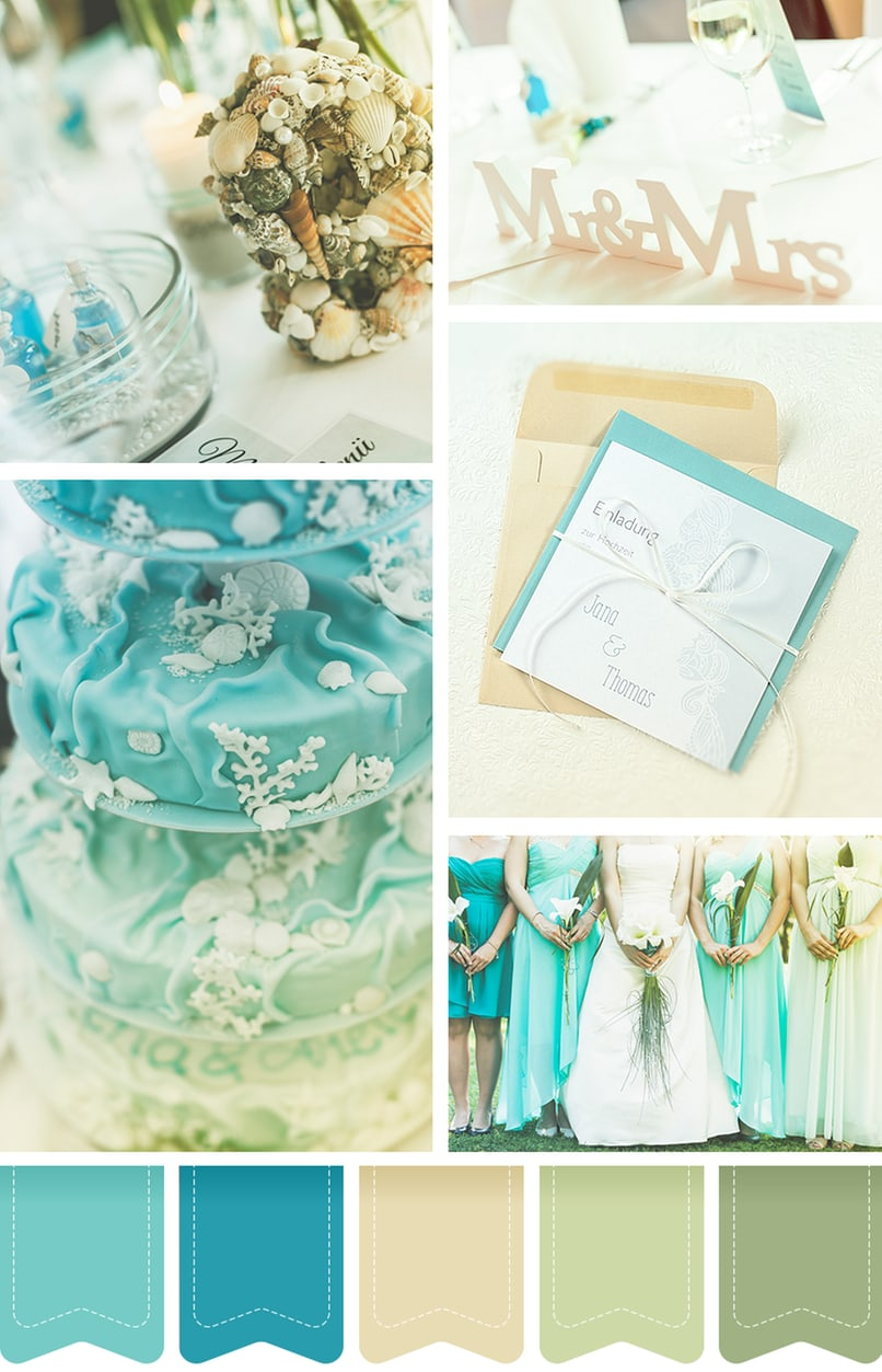 Ein Farbkonzept für die Hochzeit am Meer