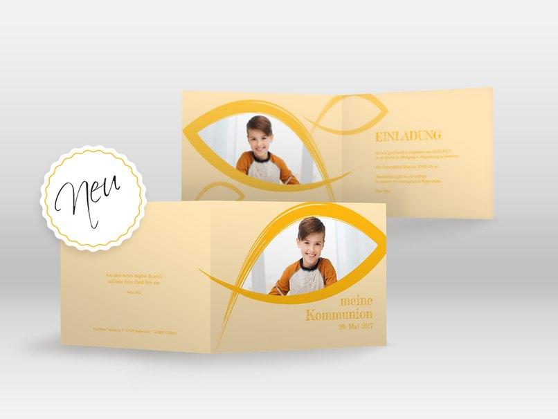 Credo ist eine neue Kommunionseinladung im myprintcard-Shop.