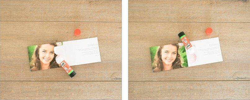 eine 3d bl te aus papier in der konfirmationseinladung myprintcard. Black Bedroom Furniture Sets. Home Design Ideas
