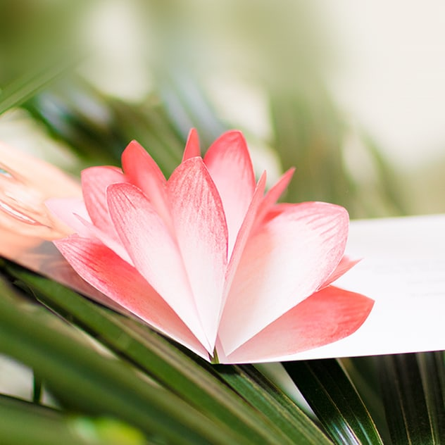 Konfirmationseinaldung mit 3D-Blüte
