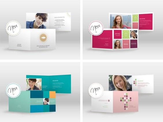 So sehen die neuen Konfirmationskarten von myprintcard aus