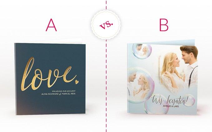 A oder B - Glam oder Dreams - welches Design ist Euer Favorit