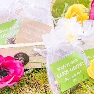 Seedbombs für die Hochzeit