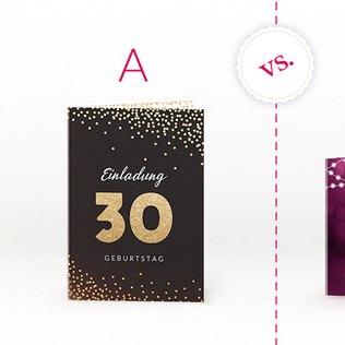 Glitzer und Lichtspiel - elegante Geburtstagskarten für Erwachsene