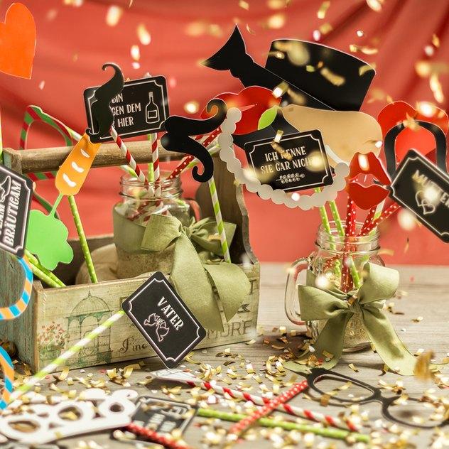 Hochzeitstrend 2016 Fotobox Utensilien