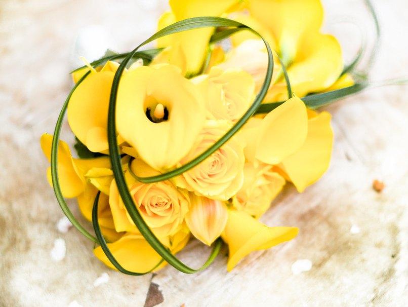 Gelbe Blumen für die Hochzeit gibt es in Hülle und Fülle