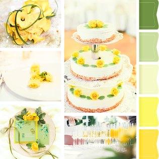 Ein sommerliches Farbkonzept mit der Hochzeitsfarbe Gelb