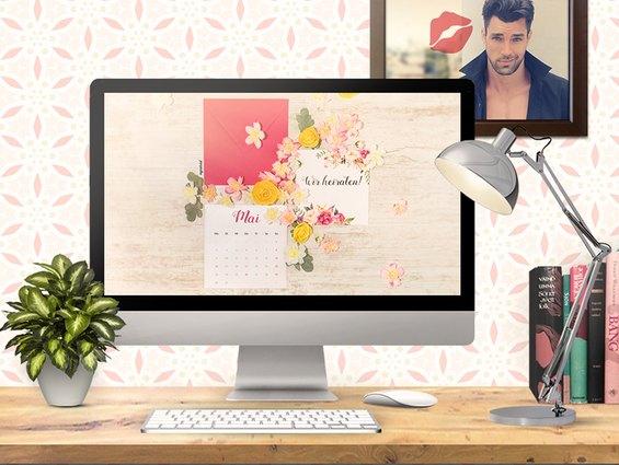 Das Desktop Wallpaper für den Hochzeitsmonat Mai