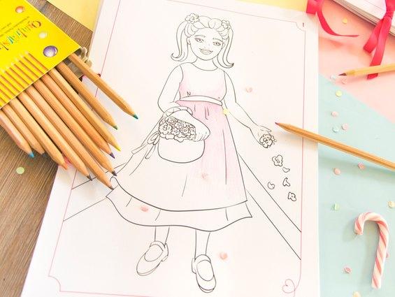 Malvorlagen sind eine tolle Möglichkeit die Kinder auf der Hochzeit bei Laune zu halten