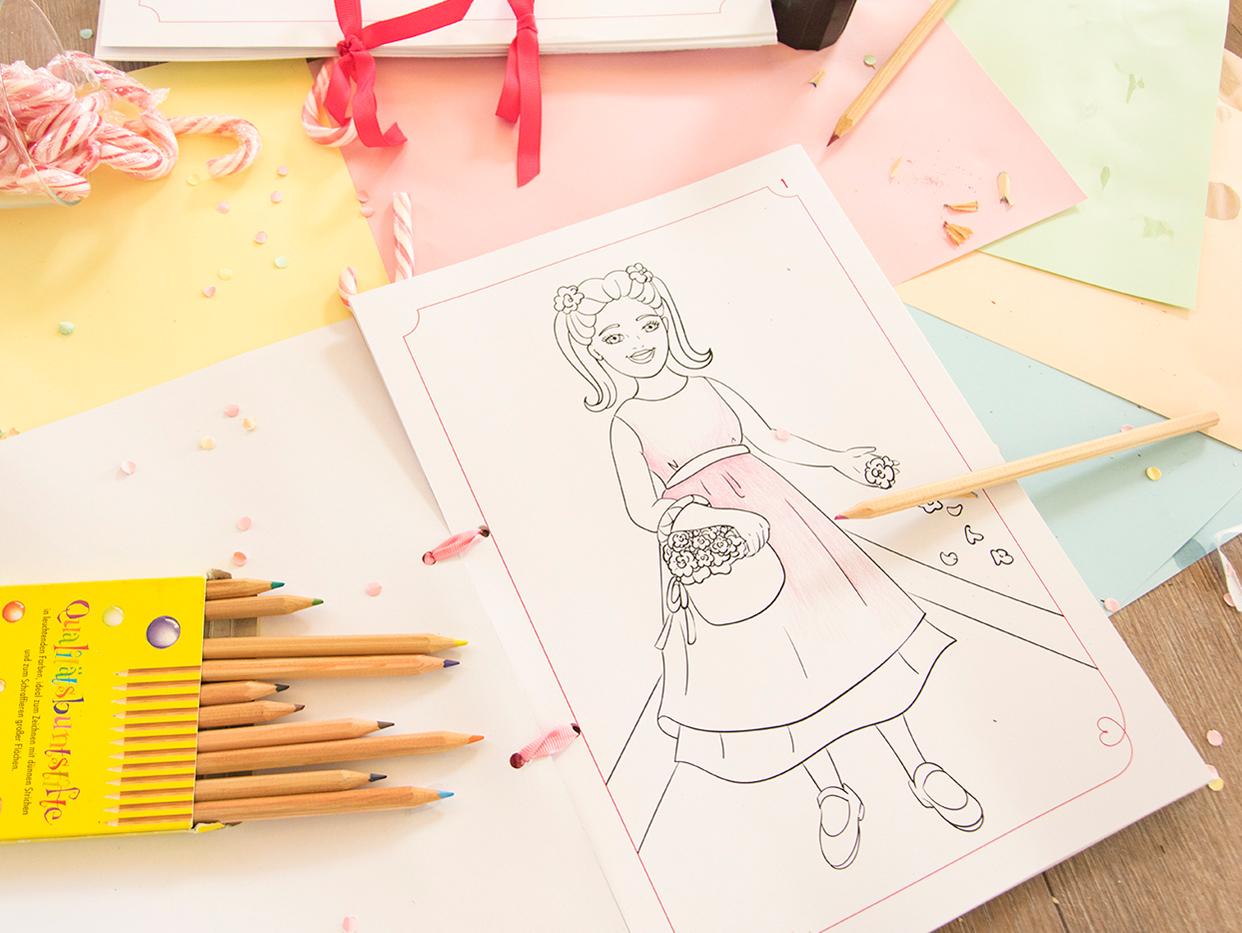 Malvorlagen für die Hochzeit – myprintcard