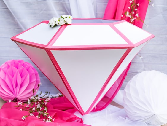Diamant als Wedding-Cardbox