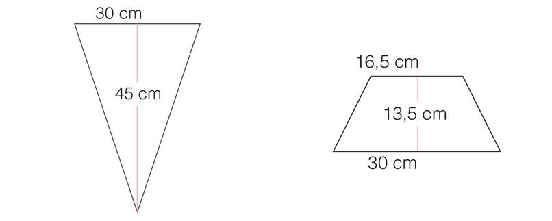 Vorlage für Dreiecke und Trapeze