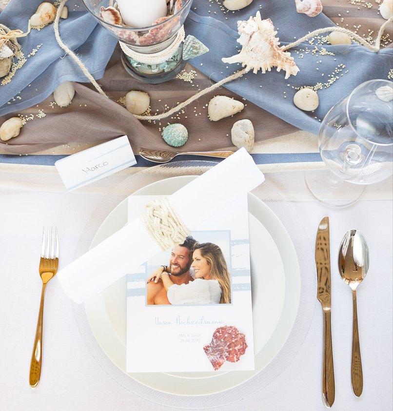 Die Maritime Tischdekoration Fur Die Hochzeit Leinen Los