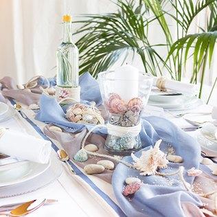 Wunderschöne maritime Tischdekoration