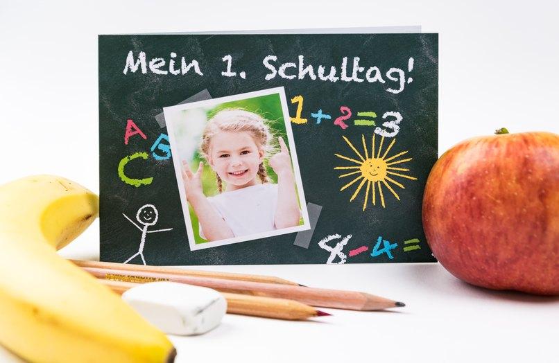 Die Einschulungskarte Schultafel sorgt für Spaß am ersten Schultag