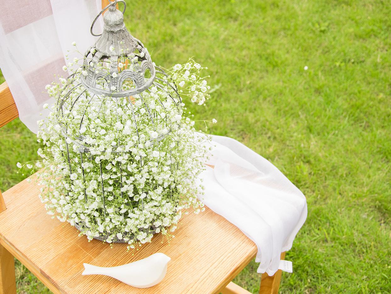 Blumendeko auf der Hochzeit mit Schleierkraut – myprintcard