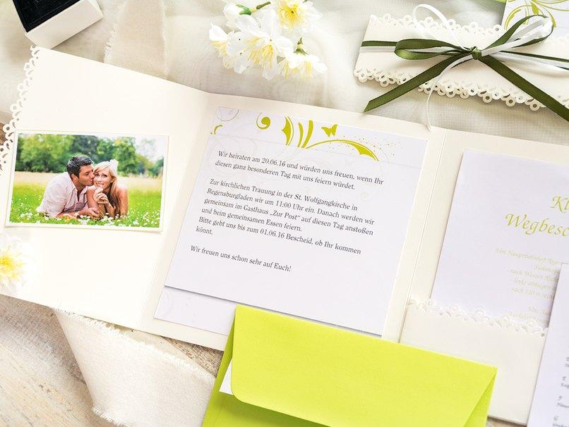 Selbstgemachte Pocketfolds können individuell gestaltet werden und sind sehr praktisch für die Gäste.