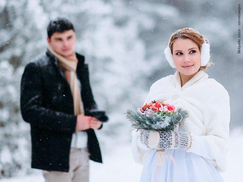 Braut im Schnee