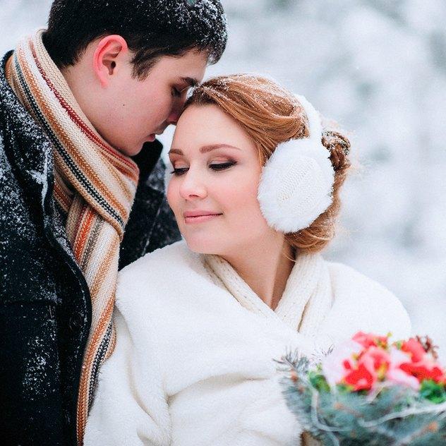 So romantisch kann eine Winterhochzeit sein