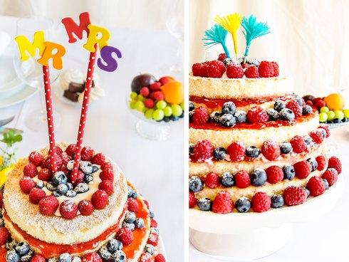 selbst gebastelte Cake Topper für Hochzeitstorten