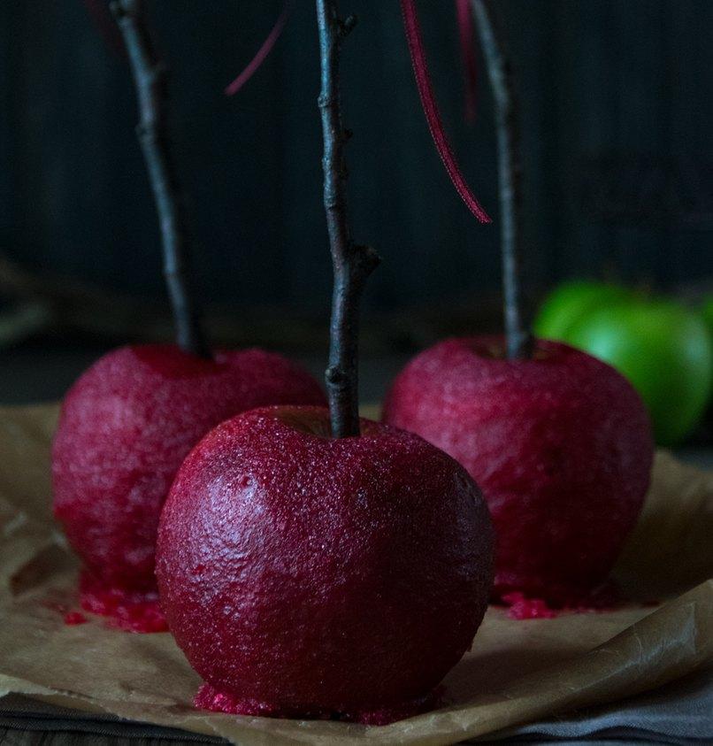 selbst gemachte kandierte Äpfel