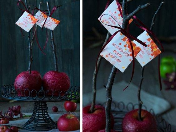 Selbstgemachte Liebesäpfel für die Candy Bar auf der Hochzeit