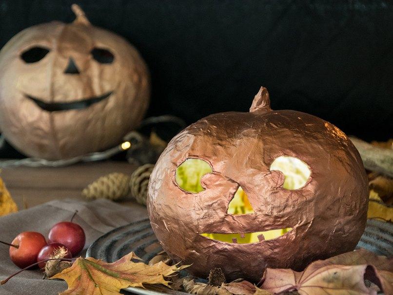 Ein toller Bastelspaß, der Halloweenkürbis aus Pappmache