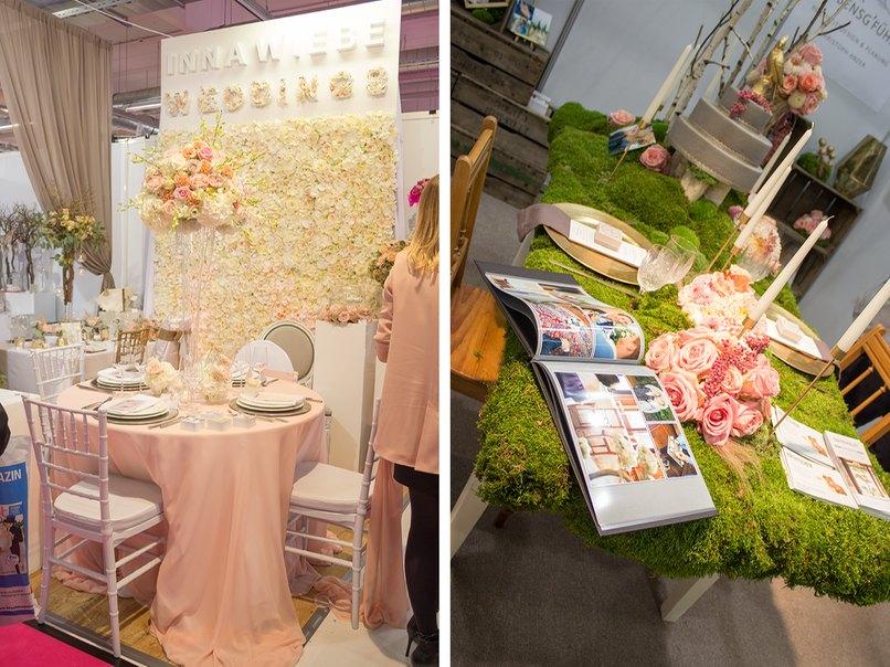 Inna Wiebe - Eventdeko zauberte einen Traum in Pastell. Ein komplett moosbedeckter Tisch faszinierte uns bei A Stück Lebensg'fühl - Eventdekoration.
