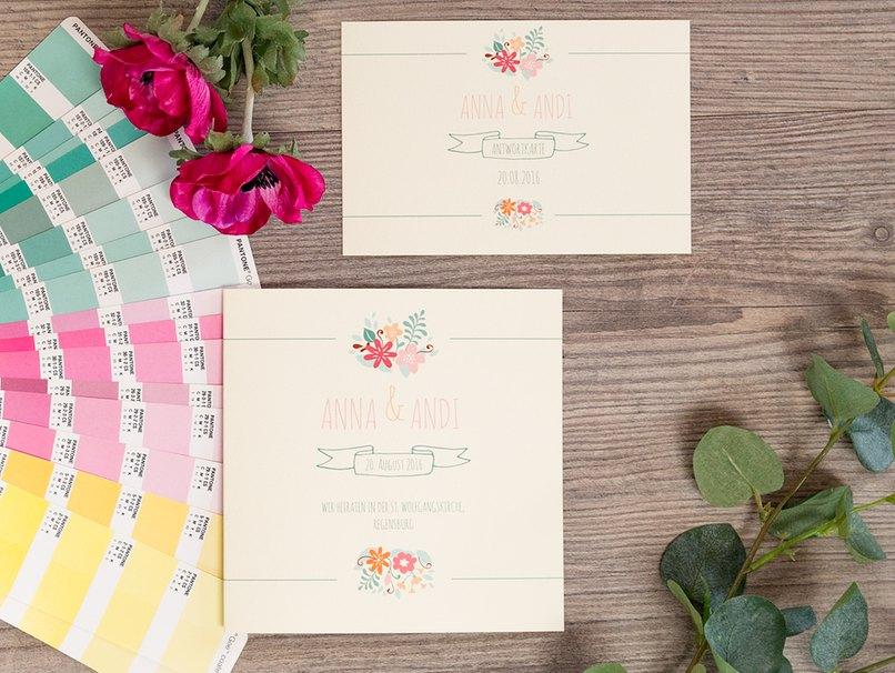 Gute Qualität erkennt man bei Einladungskarten zur Hochzeit vor allem am Papier und Druck