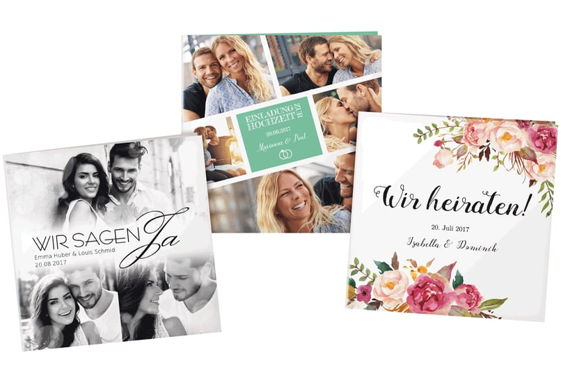 Egal welcher Hochzeitsstil zu Euch passt, die Einladungskarte muss es auch