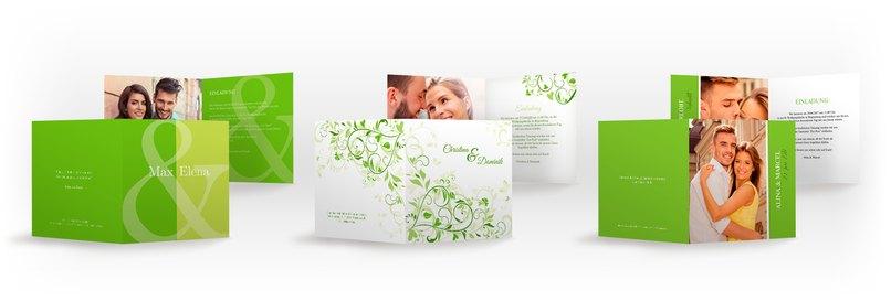 Total im Trend - Hochzeitskarten in der Farbe Greenery