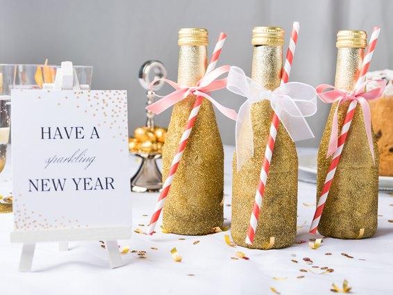 Eine tolle Dekoidee für Silvester zum selber Basteln