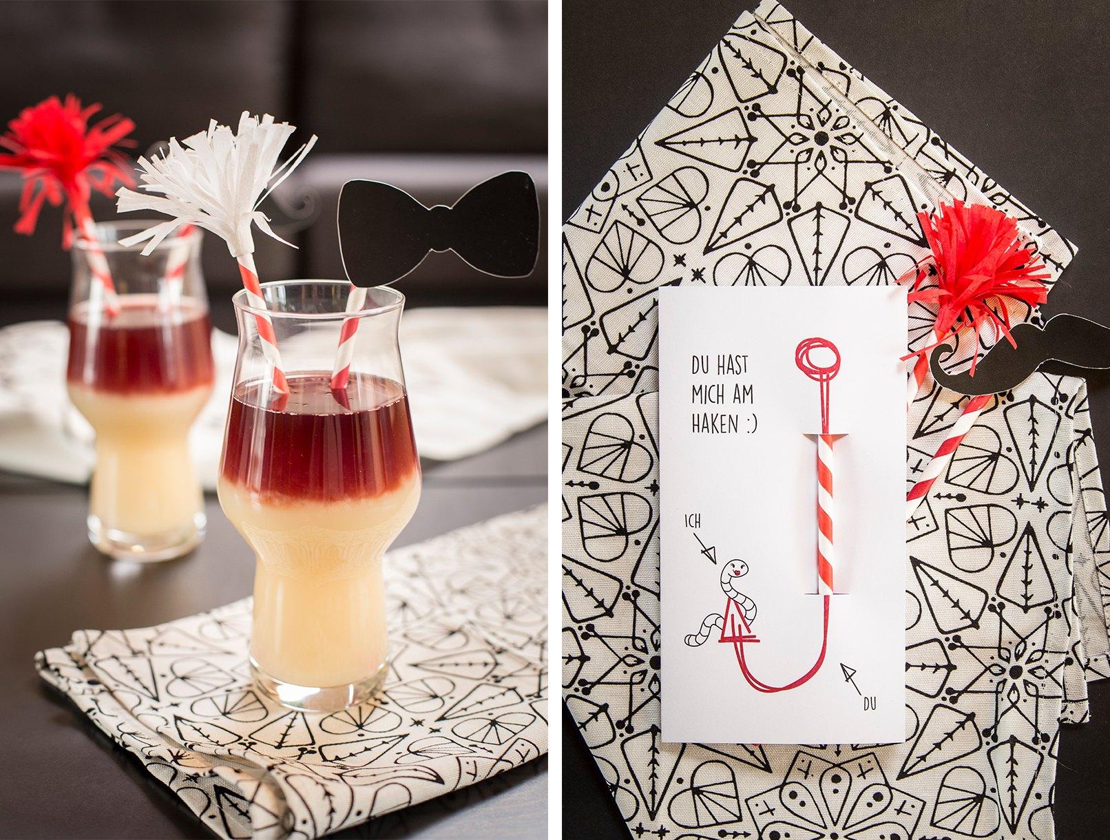 Kostenloses Freebie Zum Valentinstag. Ladet Euren Partner Mit Dieser Karte  Zum Cocktailtrinken Ein.