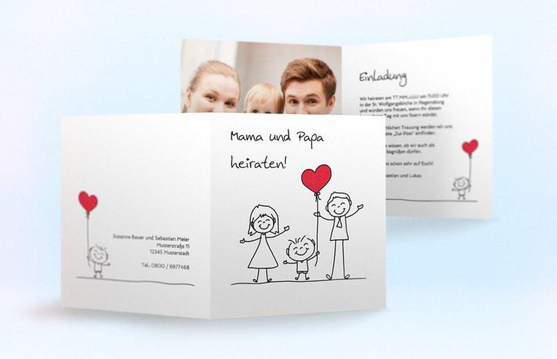 Einladungskarten Hochzeit Mit Kind