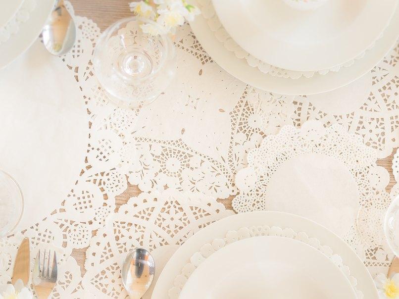 Bastelideen Mit Tortenspitze Fur Die Hochzeit Einfach Spitze