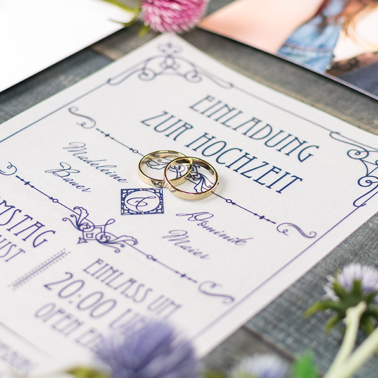 Besondere Hochzeitseinladungen Mit Einlegekarte Basteln Myprintcard