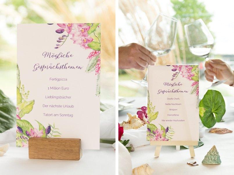 Ideen Fur Gesprachsthemen Karten Fur Die Hochzeit Myprintcard