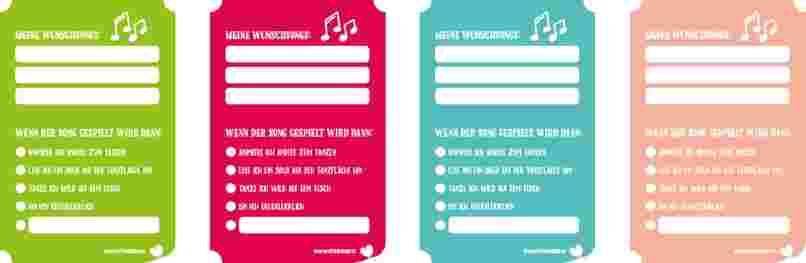 kostenloser Musikwunschzettel als Vorlage
