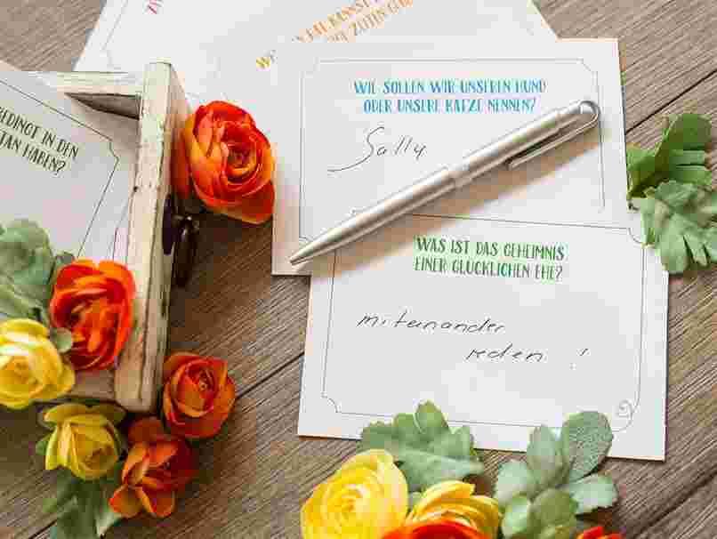 Gästebuch Wunschkarten und Fragen