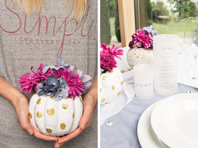 Diy Idee Tischdeko Mit Kurbis Vasen Fur Eure Herbst Hochzeit