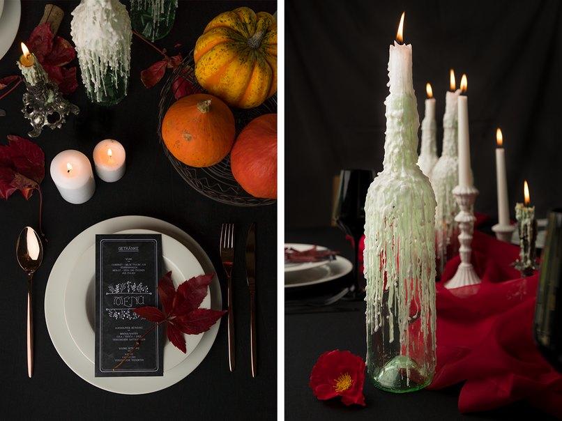 Die Halloween Tischdeko So Gruseln Sich Dracula Und Frankenstein