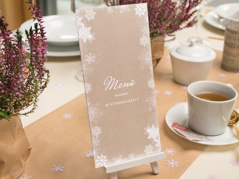 Romantische Winter Tischdeko Fur Die Hochzeit Im Vintage Look