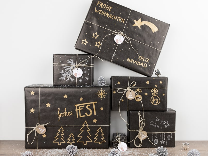 stilvoll verpacken weihnachtsgeschenke im diy look myprintcard. Black Bedroom Furniture Sets. Home Design Ideas