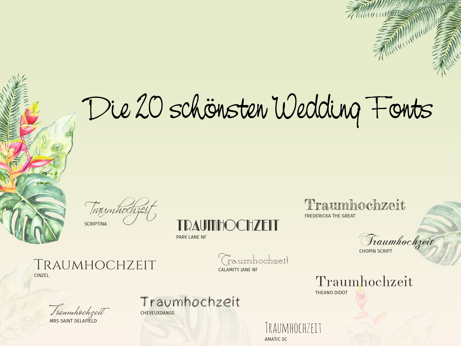 Die 20 Schönsten Wedding Fonts