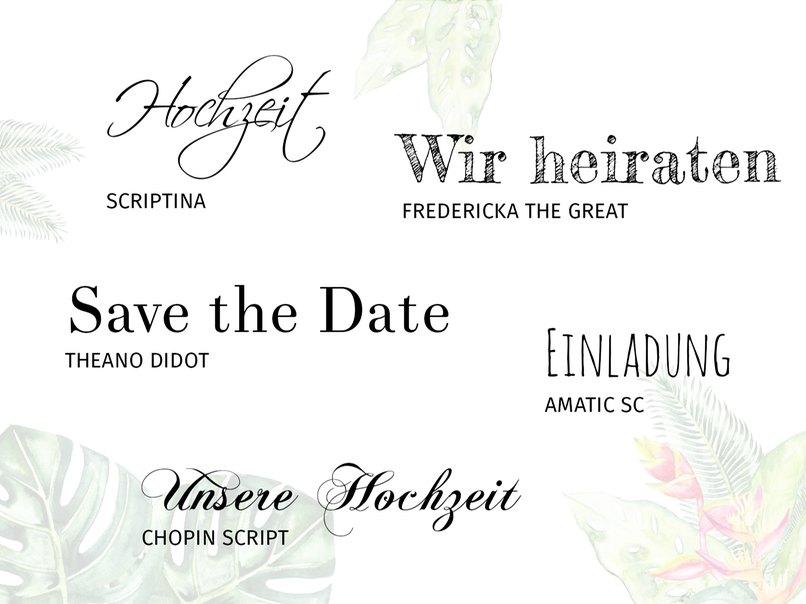 Die 20 Schönsten Wedding Fonts Für Eure Hochzeitskarten Myprintcard